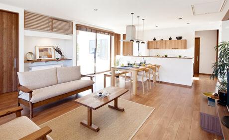 ライフスタイルにあわせた、<br>暮らし方や設備を選ぶ自由設計の住宅。