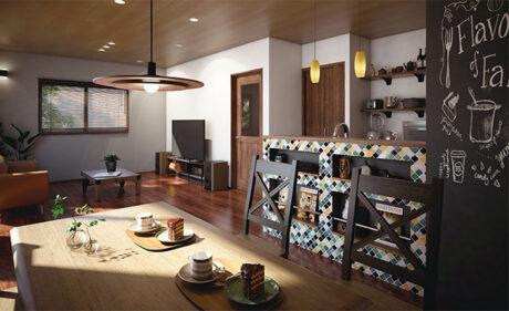 女性目線のアイデアで家族の個性を<br>演出できる自由設計のコンパクト住宅。