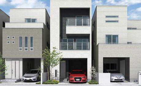 都市の中で豊かに暮らす、<br>家族 の想いを叶える3階建て住宅。
